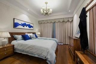 120㎡新中式风格卧室装修效果图