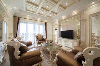 法式豪华别墅客厅装修效果图