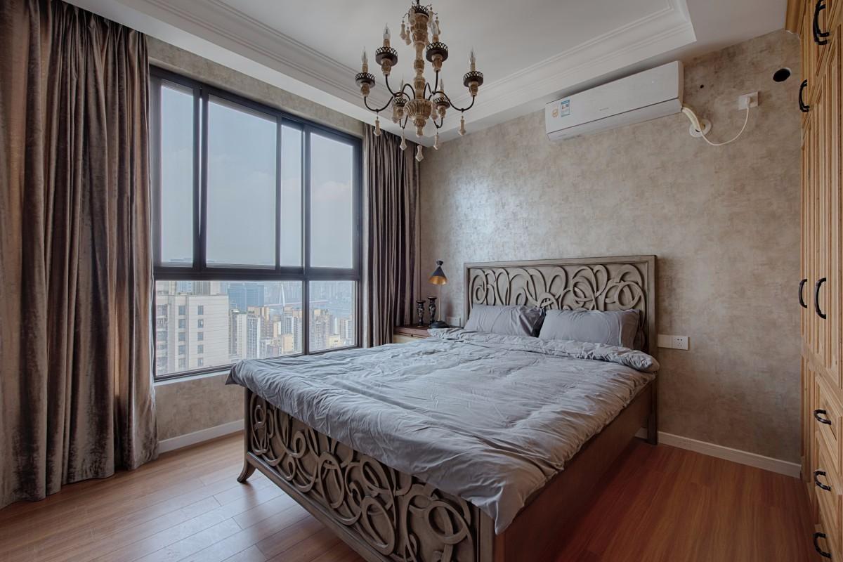 三居室混搭风格卧室装修效果图