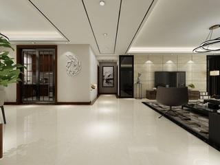大户型简约现代客厅过道装修效果图
