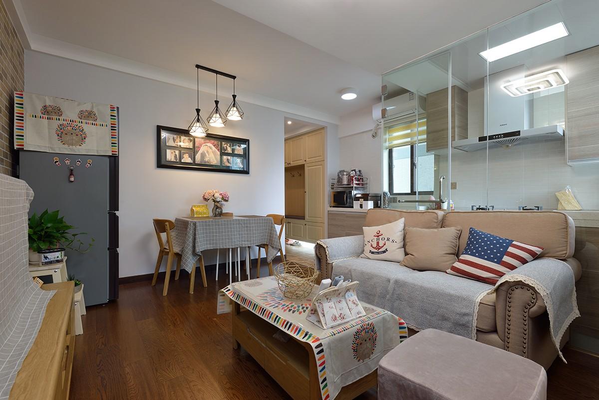 混搭风格两居室装修效果图