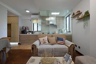 混搭风格两居室装修沙发设计图