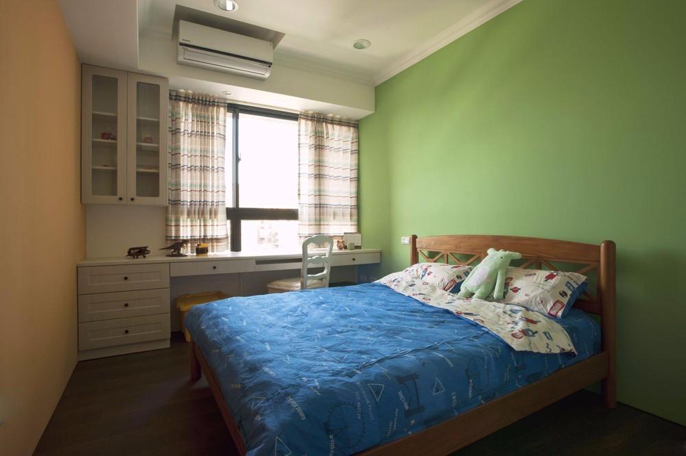 乡村美式风格三居卧室装修效果图