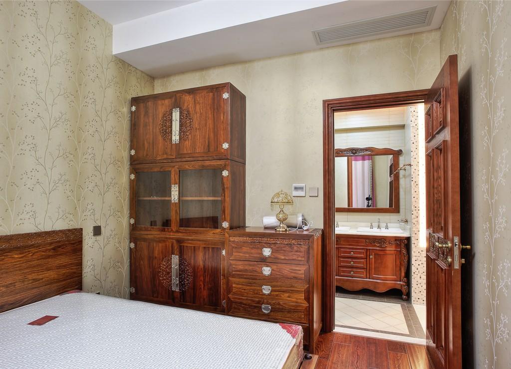中式古典别墅卧室装修效果图