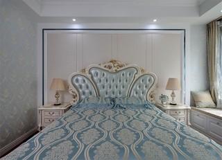 简欧风格三居卧室背景墙装修效果图