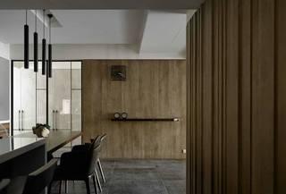 150平现代风木饰墙面装修效果图