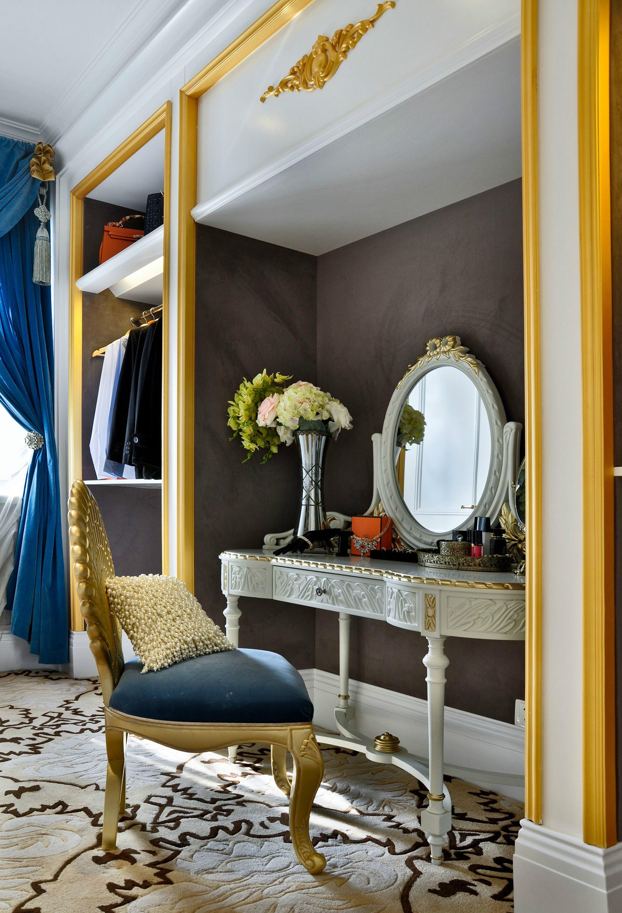 奢华法式风格别墅装修梳妆台设计图