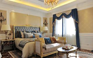 奢华法式风格别墅卧室装修效果图