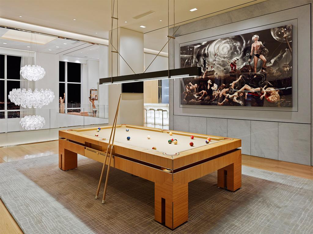大户型豪华公寓台球室装修效果图