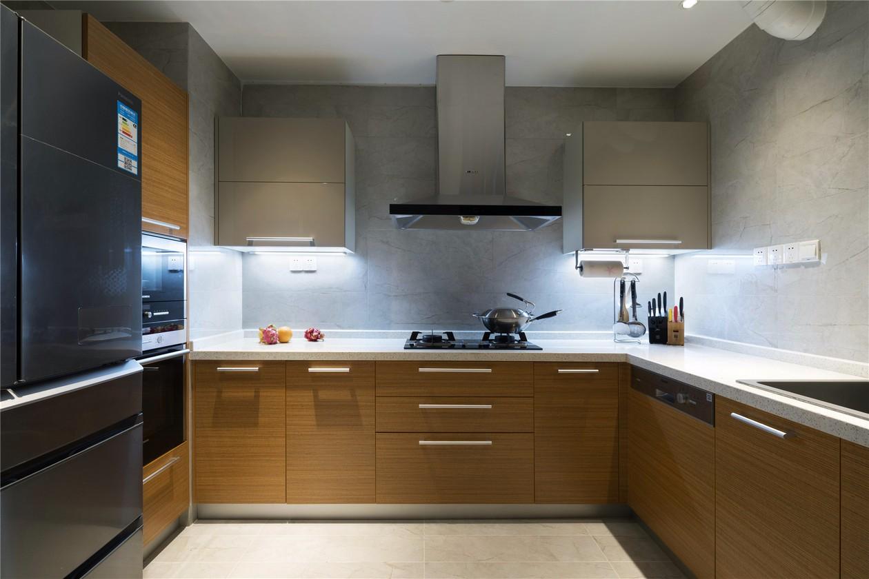 极简现代风格厨房装修效果图