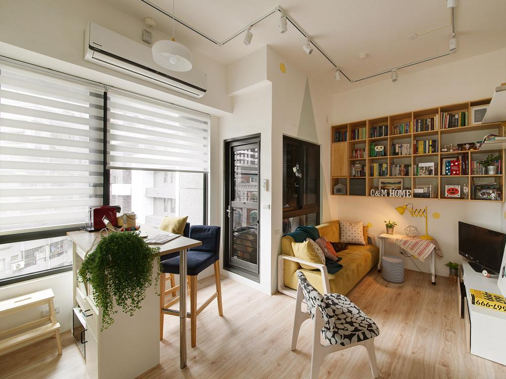 小户型公寓客餐厅装修效果图
