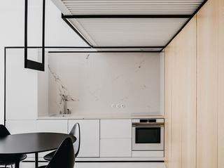 小户型极简公寓厨房装修效果图