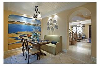 复式地中海风格餐厅装修效果图