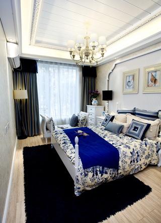 三居室地中海风格卧室每日首存送20