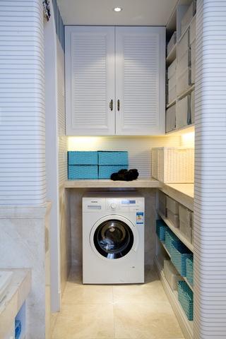 三居室地中海风格洗衣房装修效果图