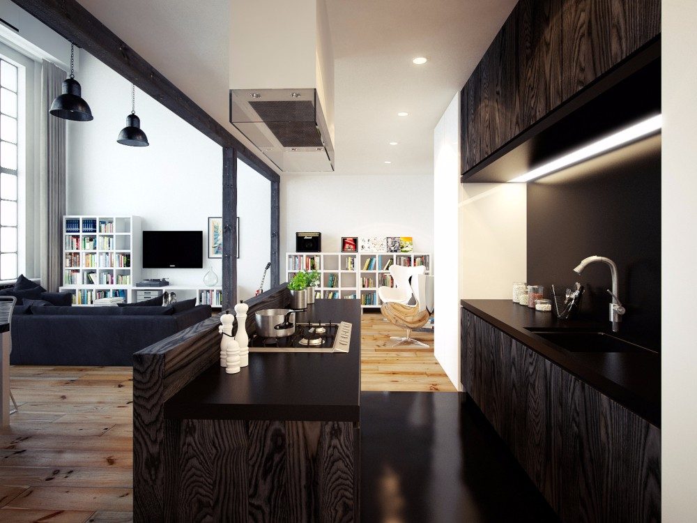 LOFT公寓厨房装修效果图