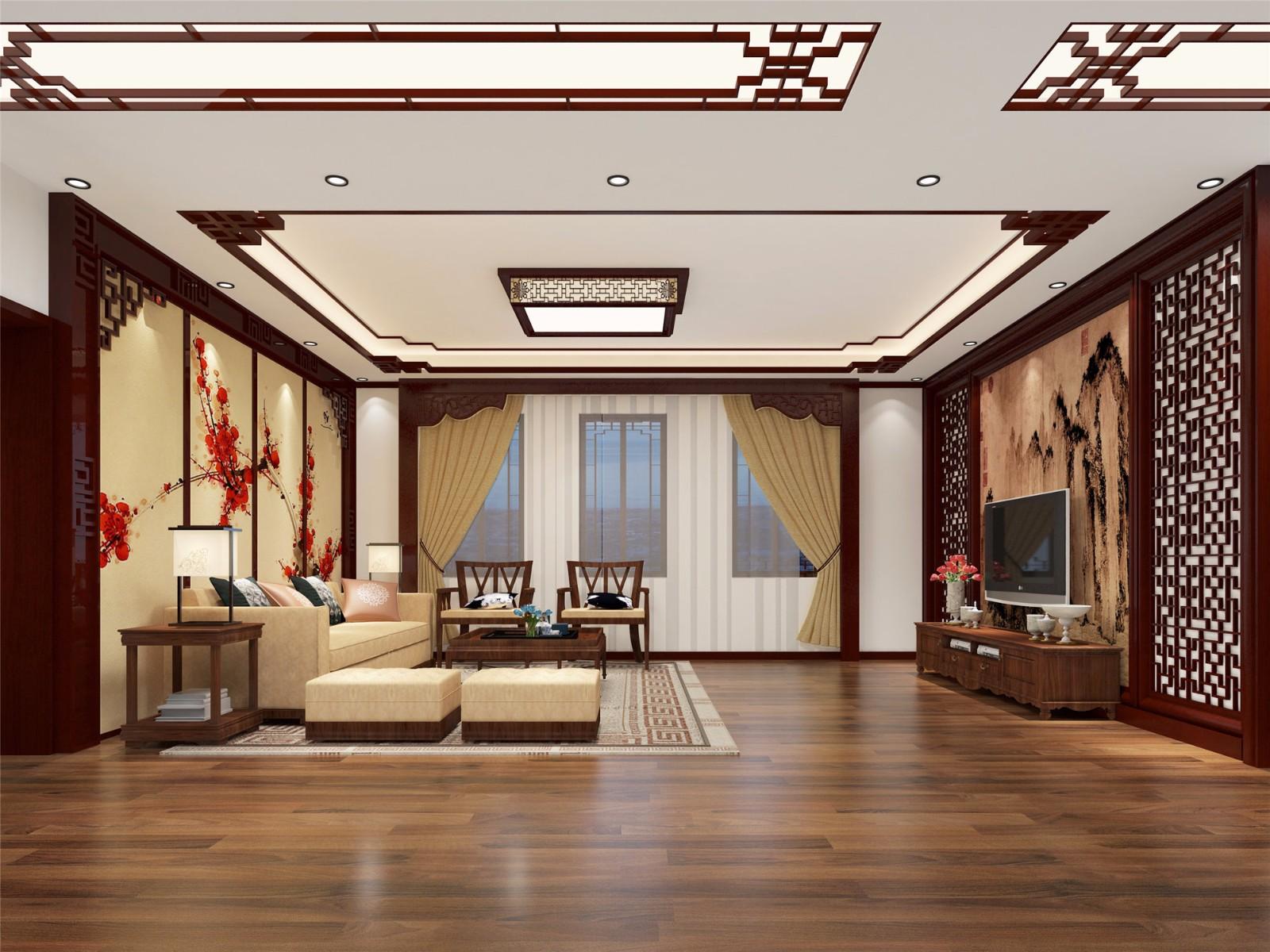 中式风格客厅装修设计效果图