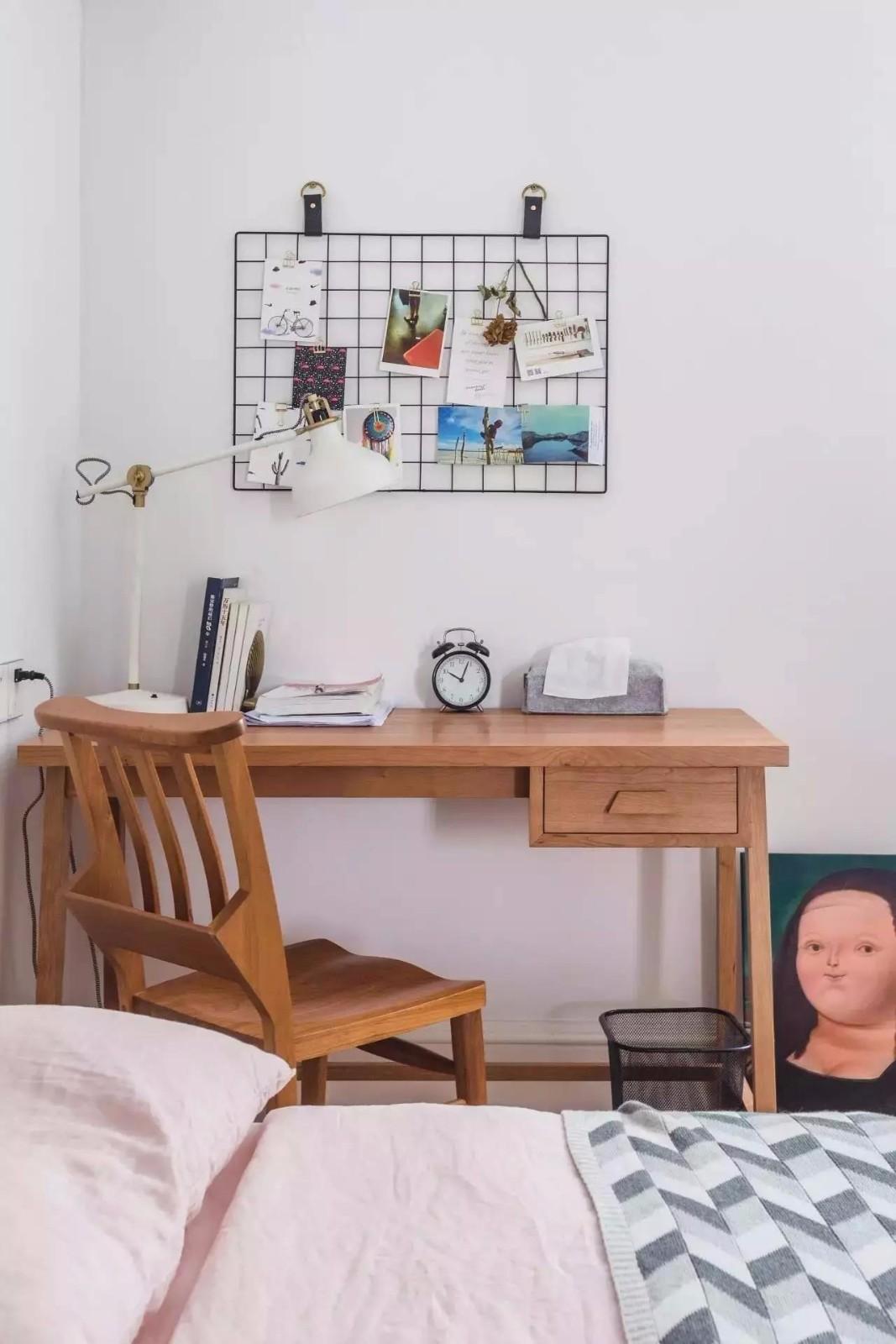 140平北欧风格装修书桌设计图
