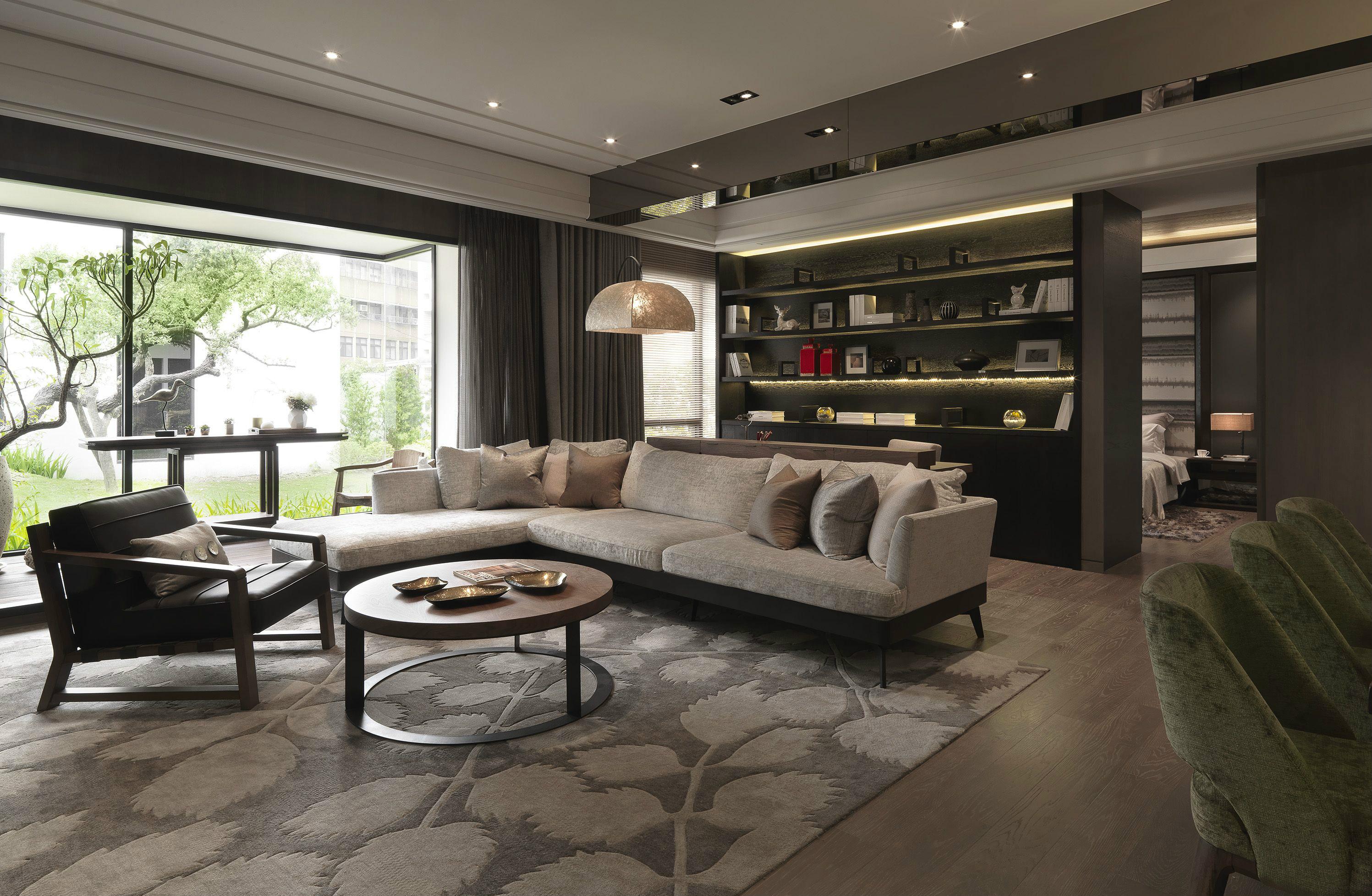 118平米现代风格客厅装修效果图