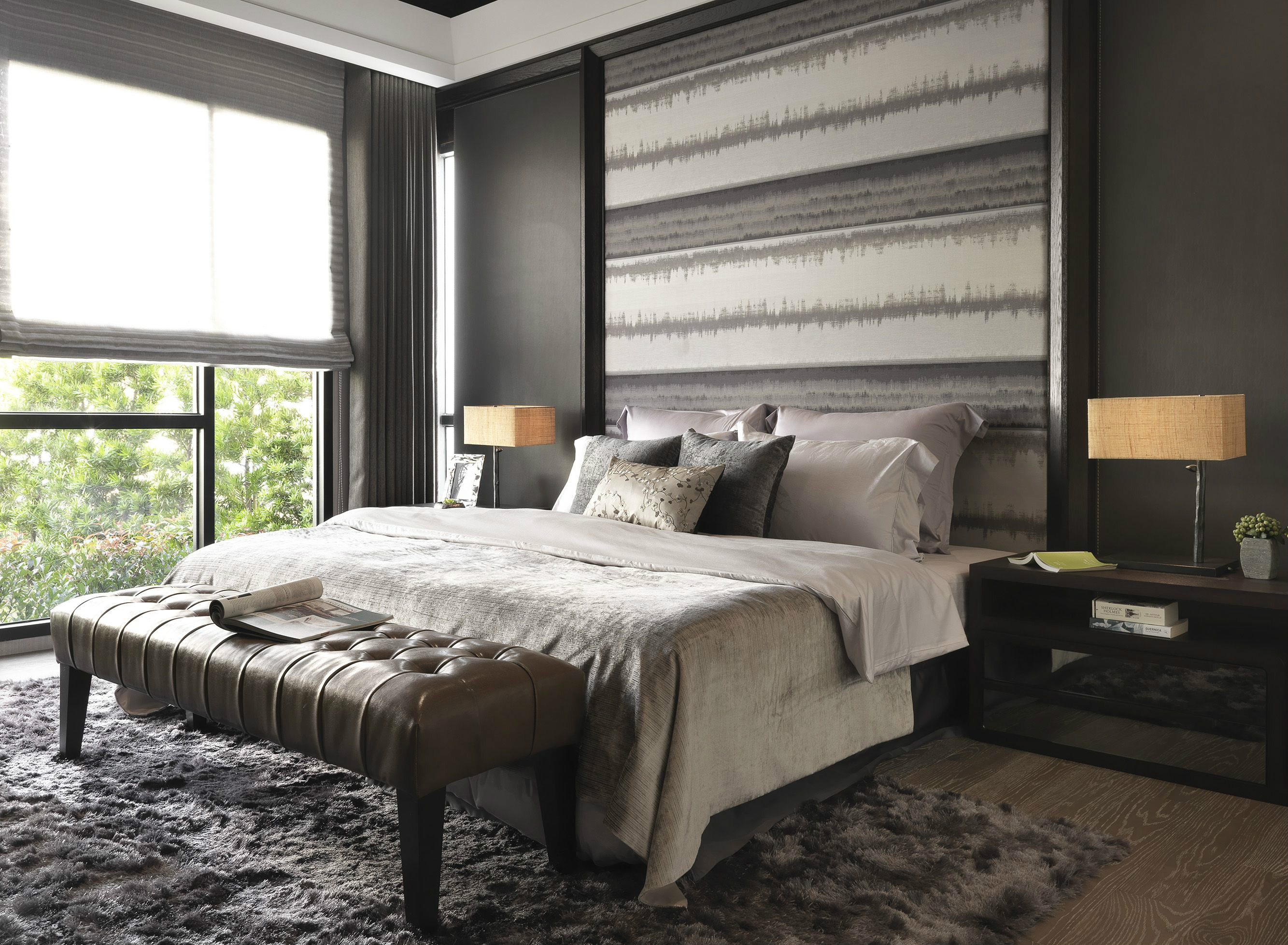 118平米现代风格卧室装修效果图