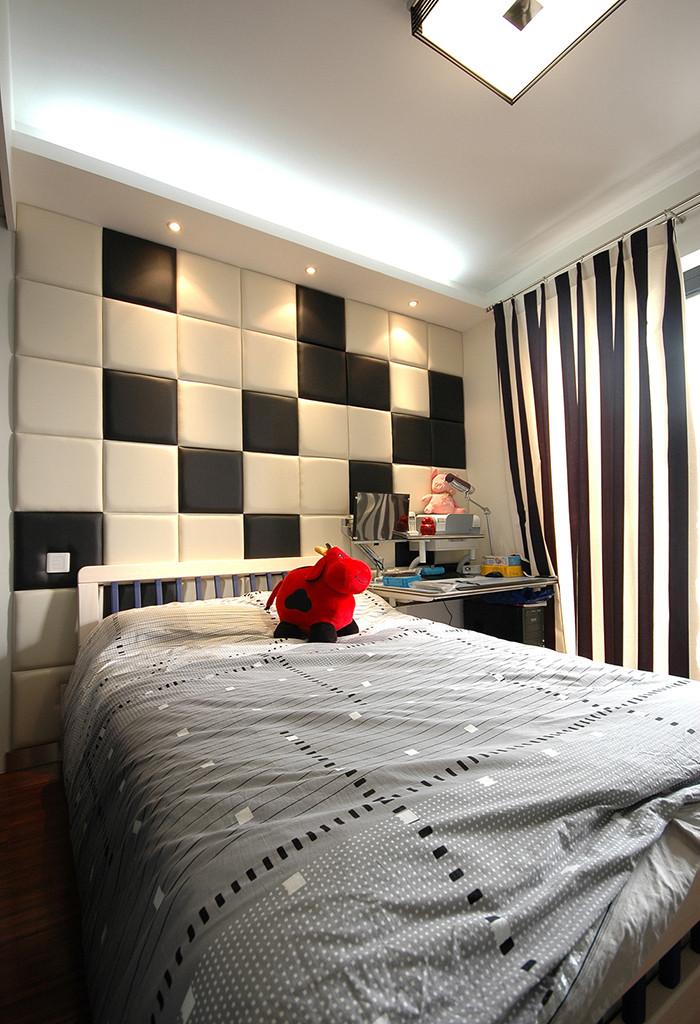 105平现代风格床头背景墙装修效果图