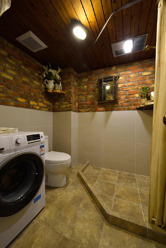 美式乡村风格二居卫生间装修效果图