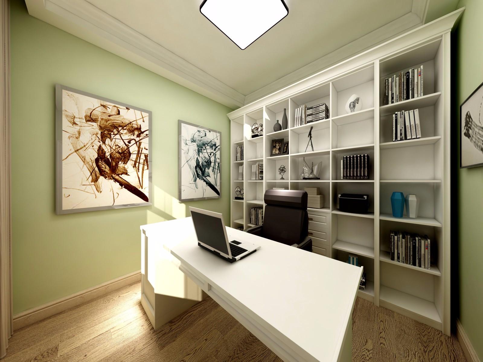 现代简约三居书房装修效果图