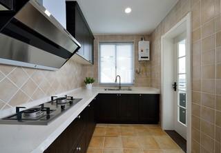 160平复式美式风格厨房装修效果图
