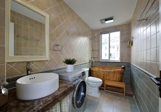 160平复式美式风格卫生间装修效果图
