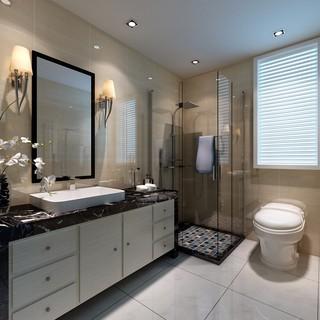二居室简约现代卫生间装修效果图