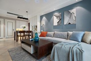 80平温馨小家好清新客厅装潢图