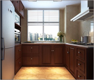 中式风格厨房装修设计效果图