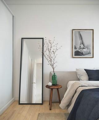 北欧风公寓装修卧室一角