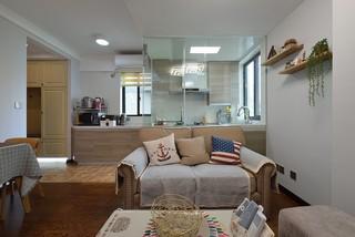 二居室混搭风格装修沙发搭配图