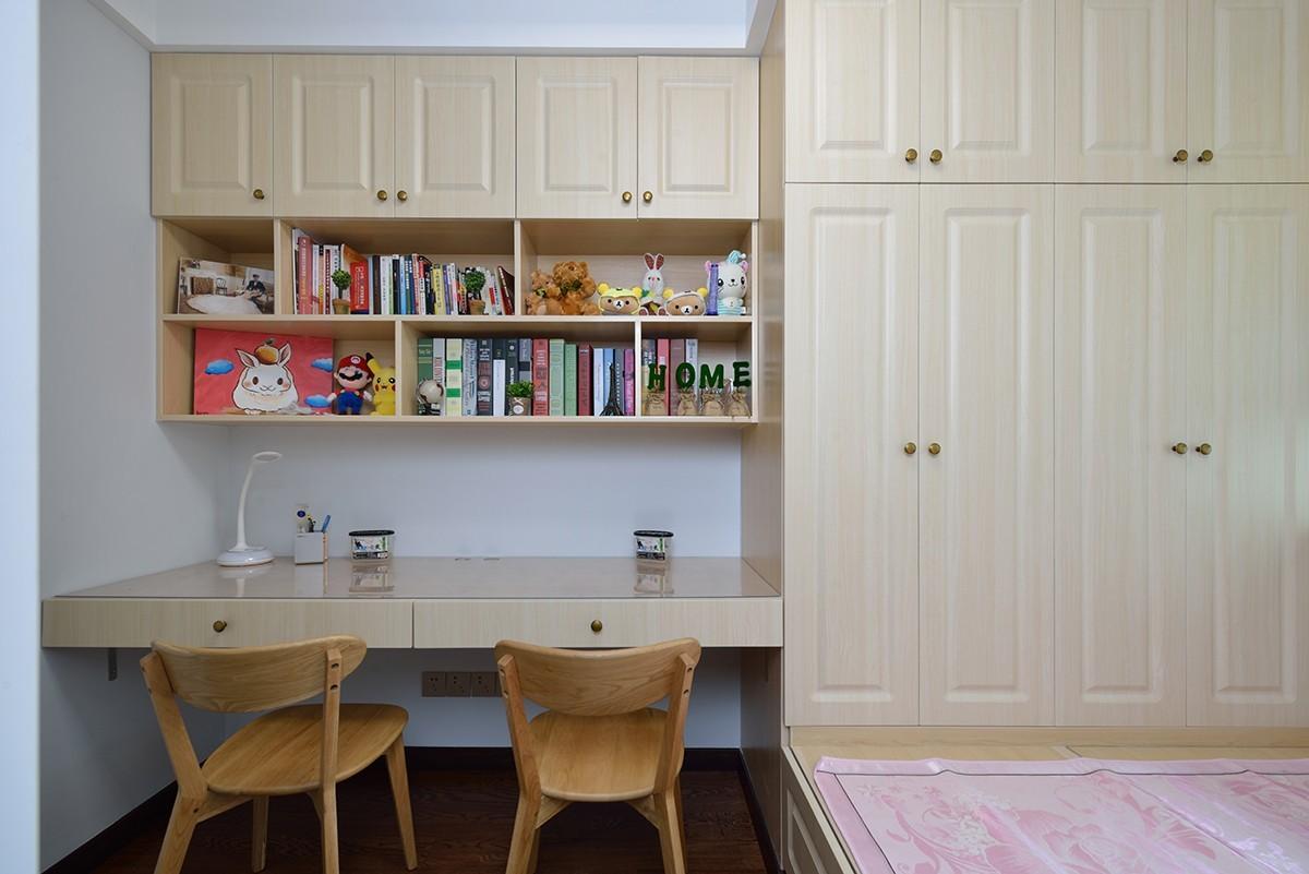 二居室混搭风格书房装修效果图