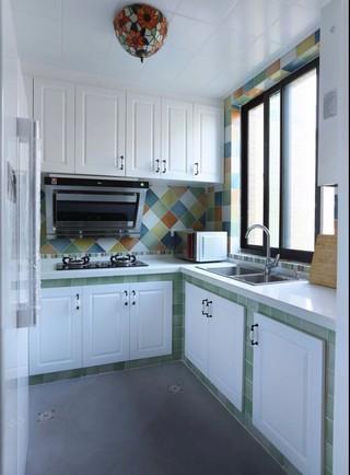 95平地中海风格厨房装修效果图