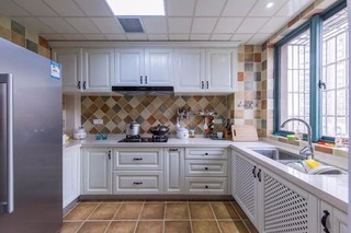 现代美式风格厨房装修效果图
