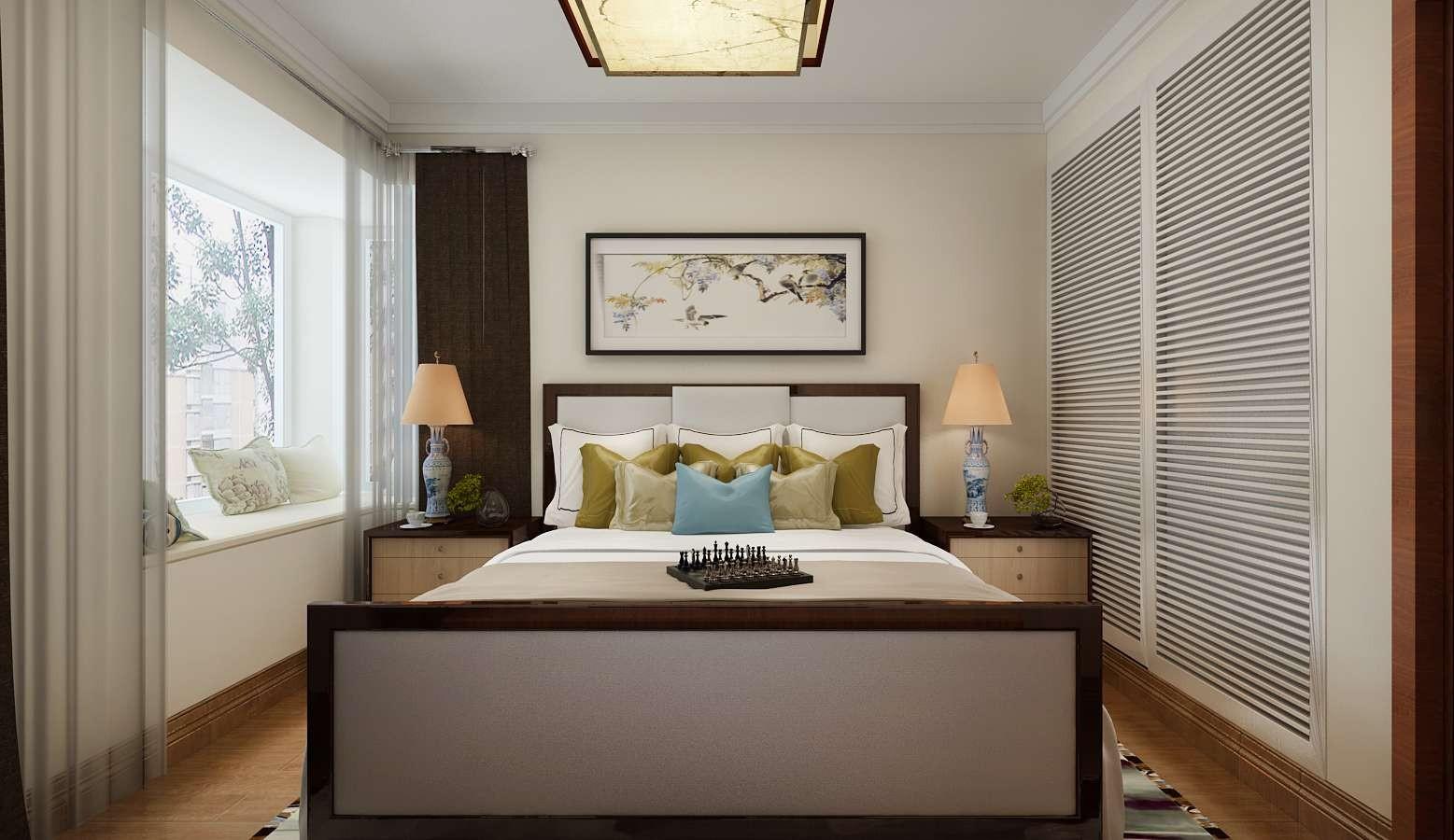 110平米新中式卧室装修效果图