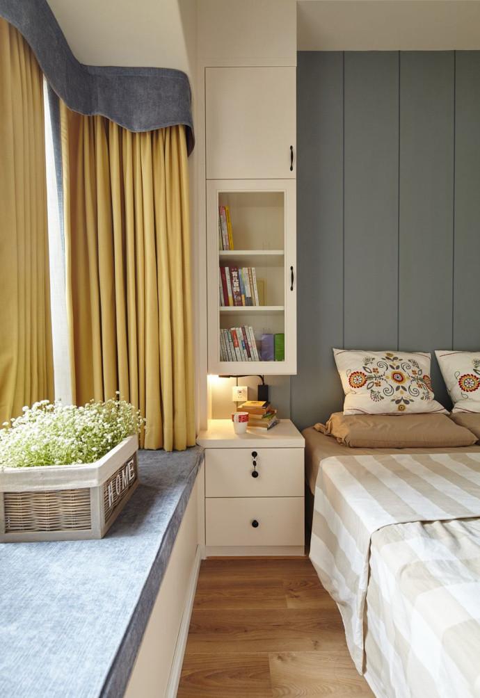 三居室简约风格飘窗装修效果图