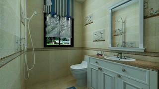 暖色调卫生间装修效果图
