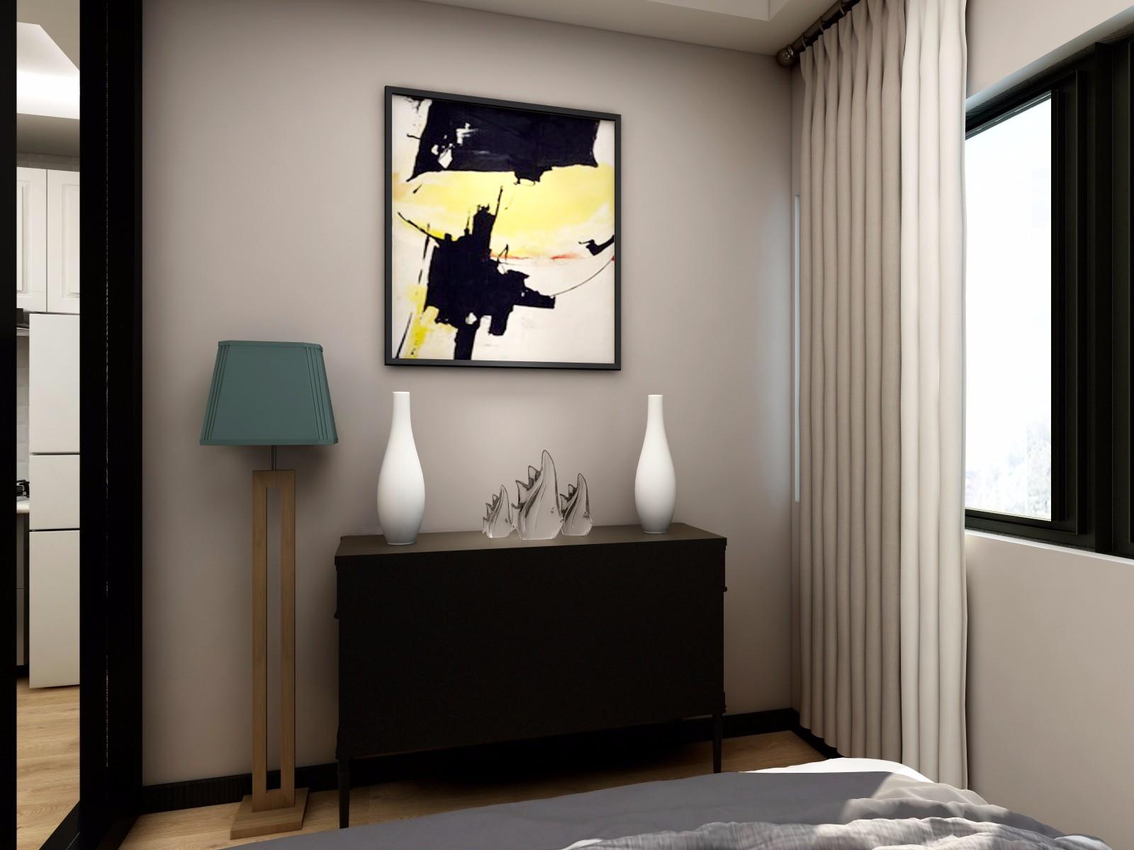 小户型现代风格装修卧室斗柜设计图