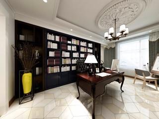 混搭风格三居室书房装修效果图