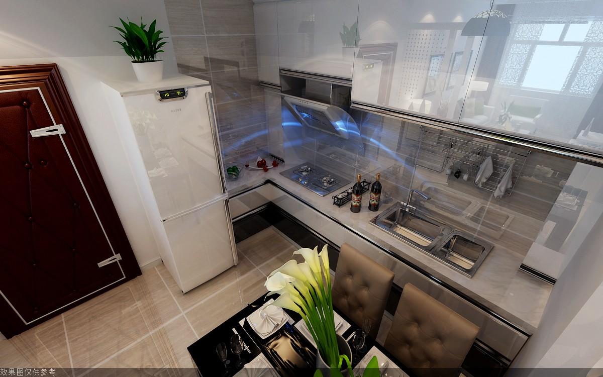 95平现代简约厨房装修效果图