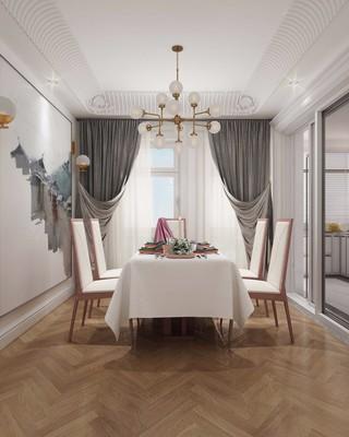 170平简欧风格餐厅装修效果图