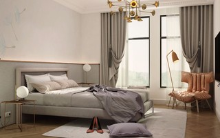 170平简欧风格卧室装修效果图
