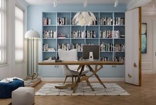 170平简欧风格书房装修效果图