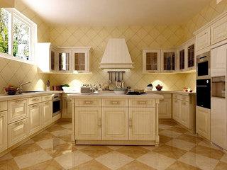 米色菱形厨房墙砖设计图