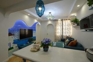 地中海风格二居装修效果图