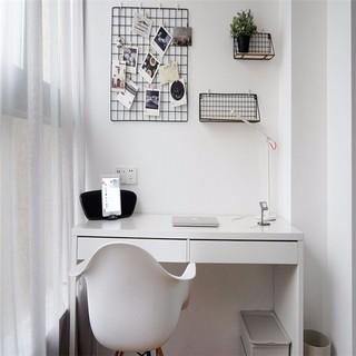 100㎡简约北欧风装修阳台书桌设计图