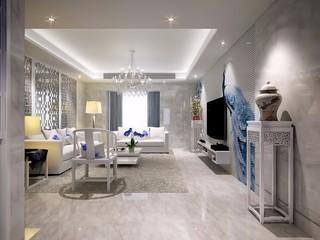 现代中式混搭客厅装修效果图